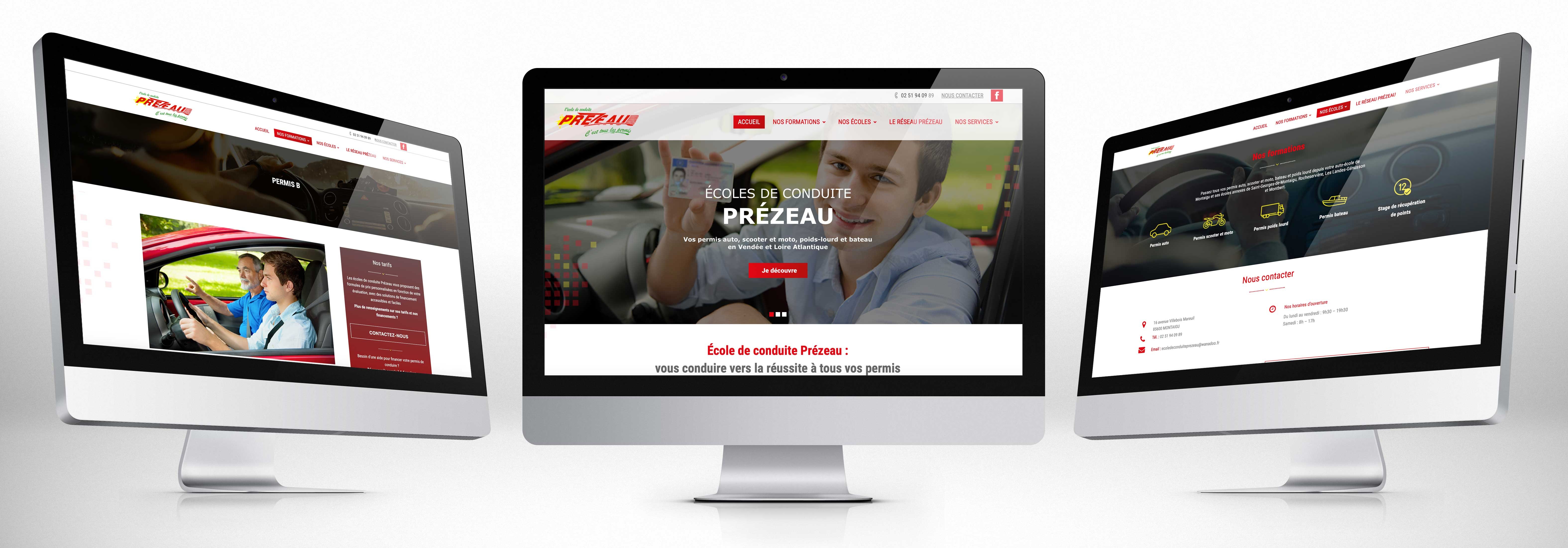 AUTO-ECOLE PREZEAU - SITE WEB Comwell