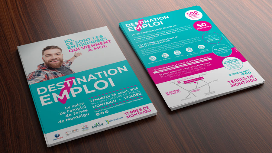 DESTINATION-EMPLOI-salon-terres-de-montaigu-flyer-realisation-Comwell